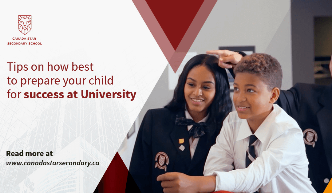Tips on how best to prepare your child for success at university