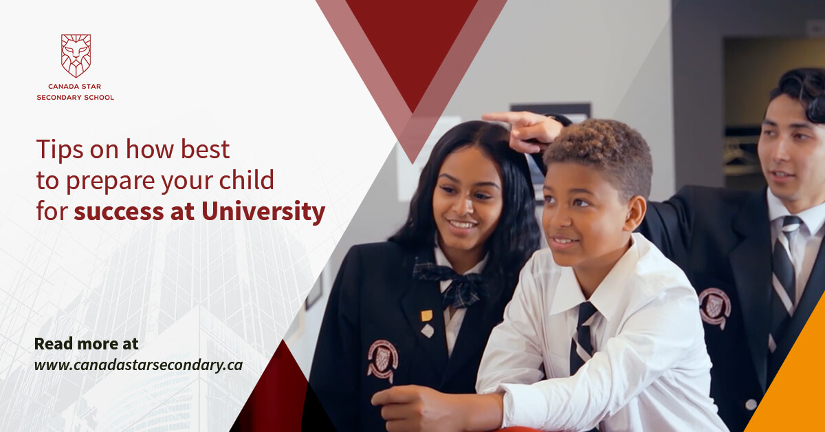 Tips on how to prepare your child for success in university
